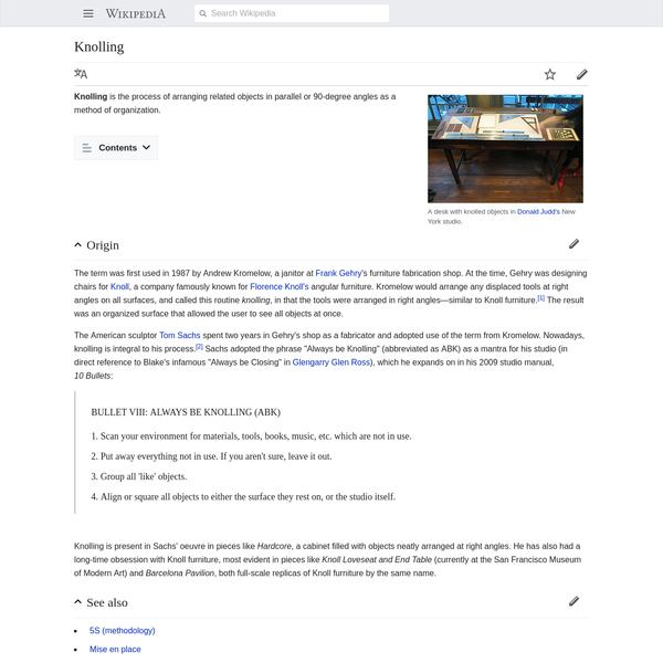 Knolling - Wikipedia
