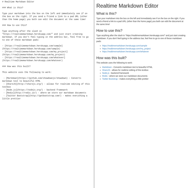 Realtime Markdown Viewer