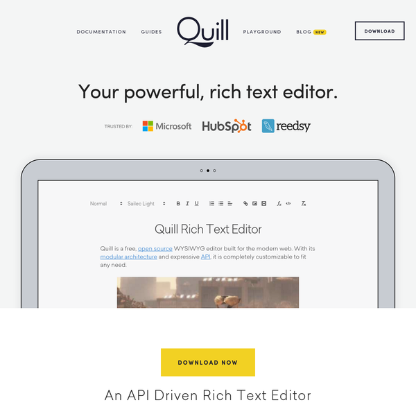 Quill - Your powerful, rich text editor