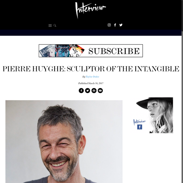 Pierre Huyghe: Sculptor of the Intangible - Interview Magazine