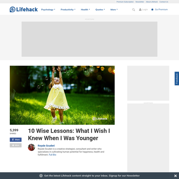 10 Wise Lessons: What I Wish I Knew When I Was Younger