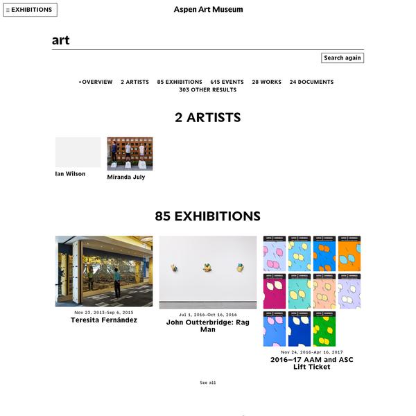 Searches - Aspen Art Museum