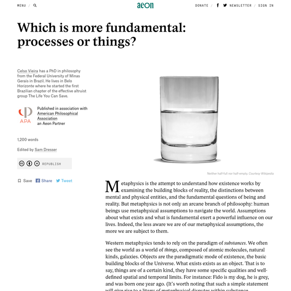Which is more fundamental: processes or things? - Celso Vieira | Aeon Ideas