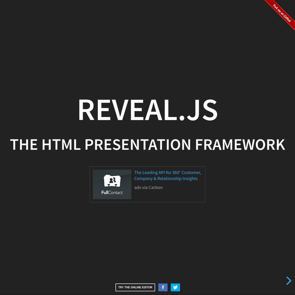 A framework for easily creating beautiful presentations using HTML