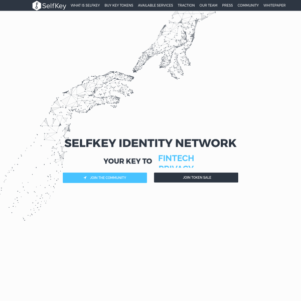 WHY BUY KEY TOKENS? The first, only sale of KEY Tokens - utility tokens needed to participate in the SelfKey Identity ecosystem. This Ethereum service is opened to the public after extensive testing and validation. With KEY you can run the SelfKey identity wallet, buy real products and services in the marketplace, and get exclusive discounts just for using KEY.