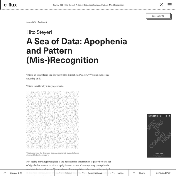 A Sea of Data: Apophenia and Pattern (Mis-)Recognition