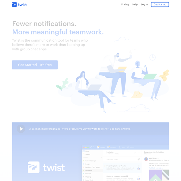 Twist keeps your conversations on-topic and in one place. For teams who want to make work calmer, more organized, and more productive.