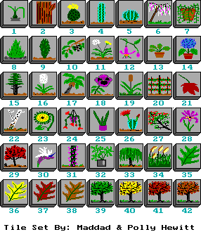 "Tile Set: Flora.til for ""Mah Jongg"" by Maddad & Polly Hewitt (1990-93)"
