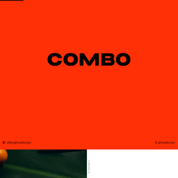 Combo is a strategy, branding and design office built on the practice of collaboration.