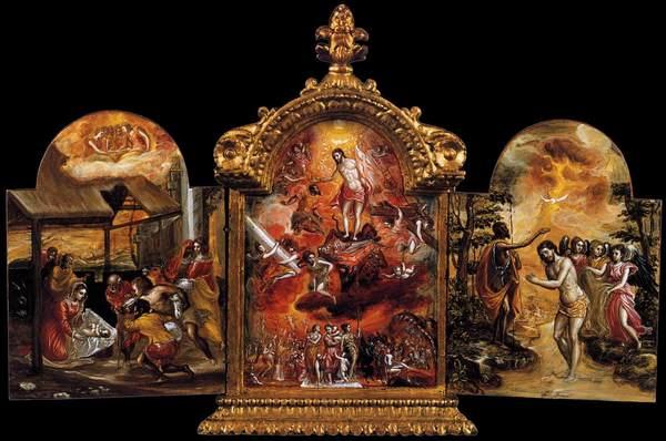 The Modena Triptych, El Greco