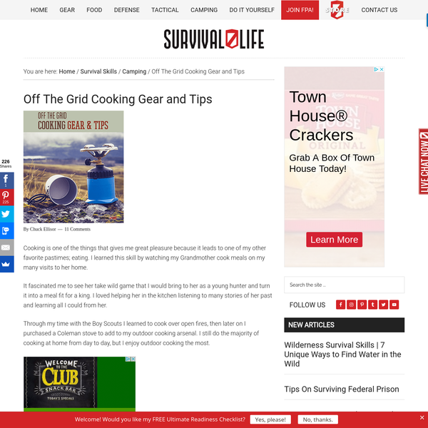 What are the Tools for Off The Grid Cooking | Survival Life