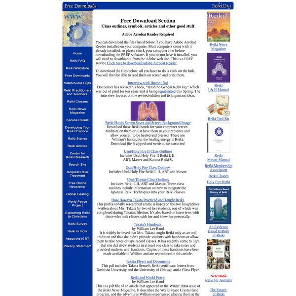 Download Reiki Forms and Articles