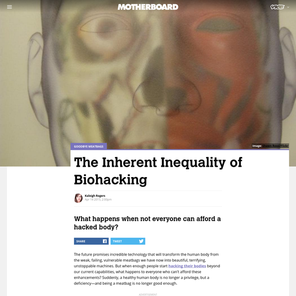 The Inherent Inequality of Biohacking