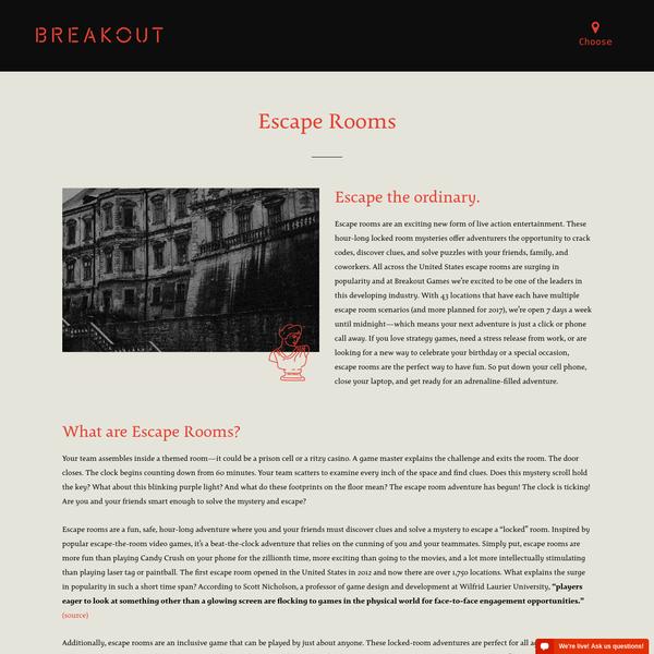 Escape Rooms   Breakout