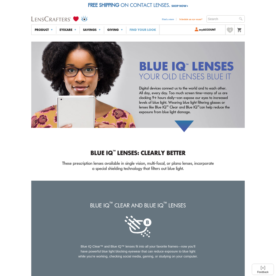 Are.na / Blue Light Glasses & Lenses: Blue IQ™ | LensCrafters