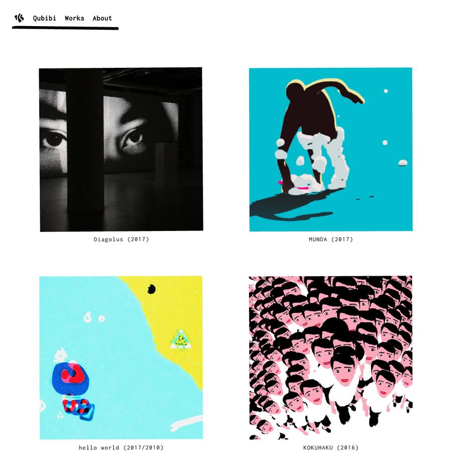 Qubibi / A label by Kazumasa Teshigawara focused on art and design for interactive media.