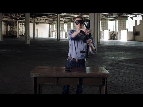 Democratic Senate Candidate Assembles Gun Blindfolded | NowThis