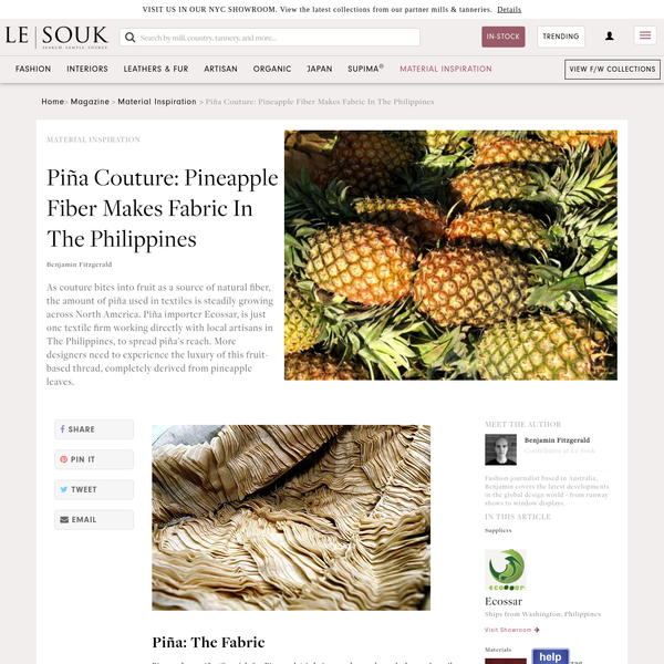 Piña Couture: Pineapple Fiber Makes Fabric In The Philippines