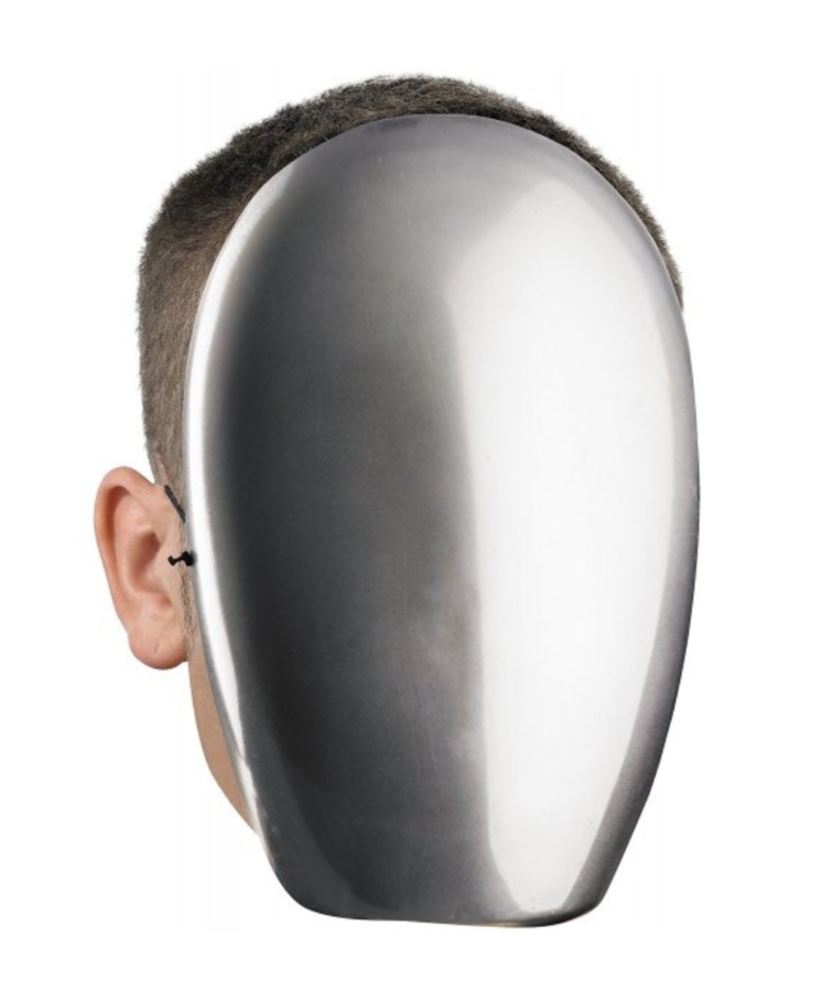 No Face Chrome Mask by DISGUISE