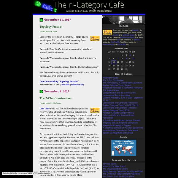The n-Category Café