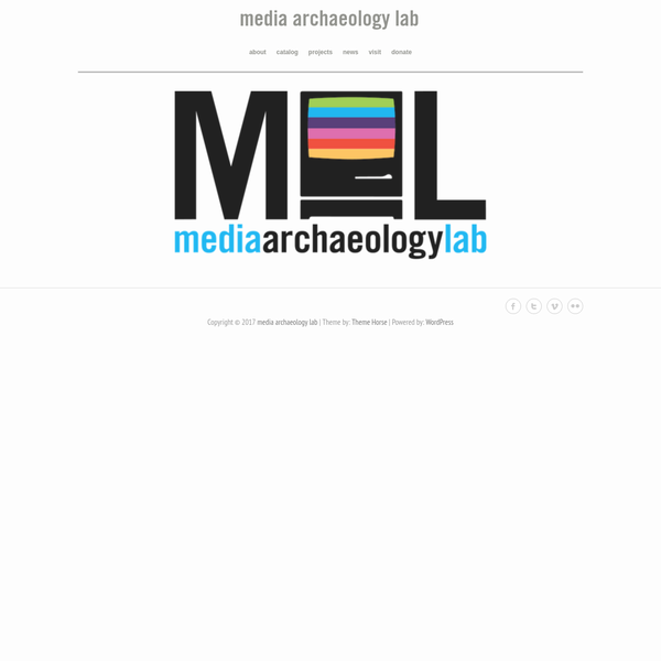 Copyright © 2017 media archaeology lab | Theme by: Theme Horse | Powered by: