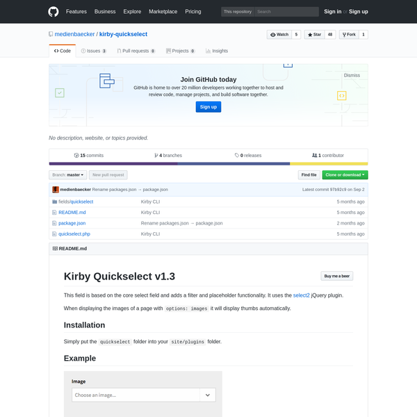 medienbaecker/kirby-quickselect