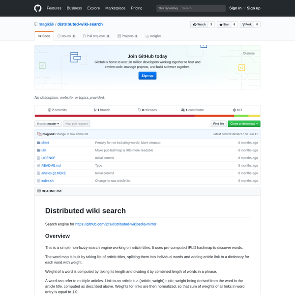 Contribute to distributed-wiki-search development by creating an account on GitHub.