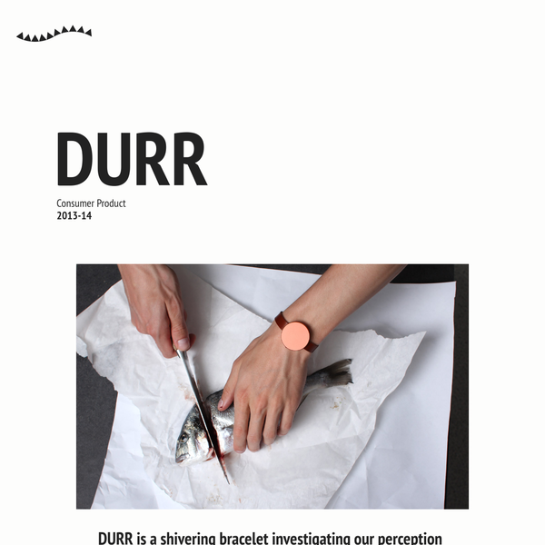 DURR is a shivering bracelet investigating our perception of 5 minutes.