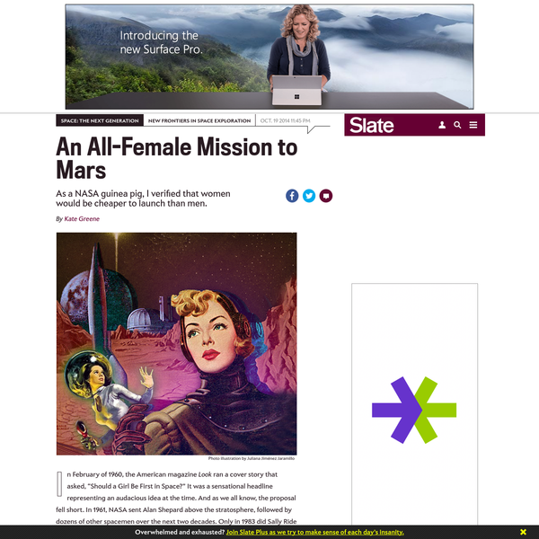 """In February of 1960, the American magazine Look ran a cover story that asked, """"Should a Girl Be First in Space?"""" It was a sensational headline representing an audacious idea at the time. And as we all know, the proposal fell short."""