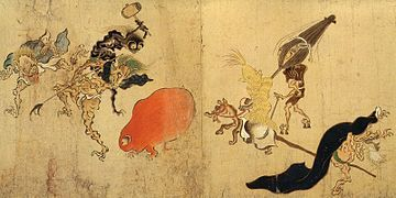 Tsukumogami are tools in Japanese folklore that have acquired a spirit. According to an annotated version of The Tales of Ise titled Ise Monogatari Shō, a certain theory in the Onmyōki, tsukumogami are what foxes that have lived for one hundred years turn into. In modern times, they can also be written 九十九神 (ninety-nine kami).