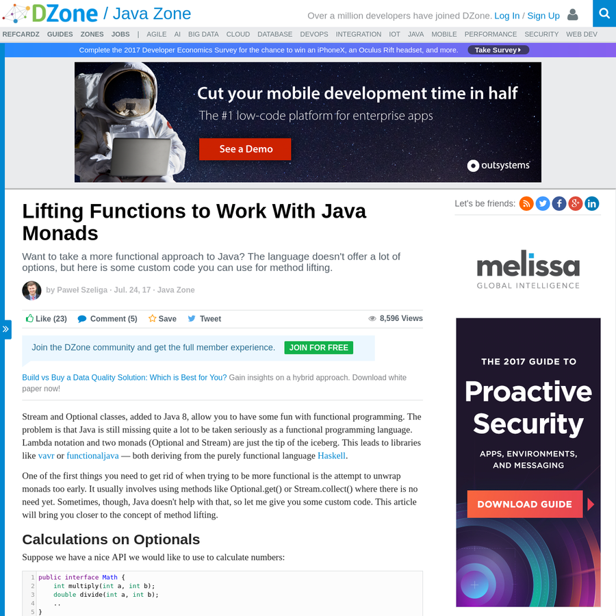 This look at method lifting Optional explains how a more functional approach to Java with a focus on monads while also examining what holds Java back from FP.