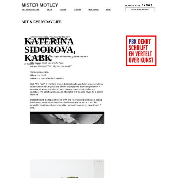 Katerina Sidorova, KABK | Mister Motley