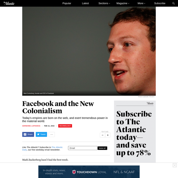 Facebook and the New Colonialism
