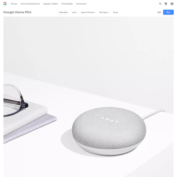 Google Home Mini is Google Assistant anywhere you want it. Ask it questions. Tell it to do things. It's your own Google, always ready to help.