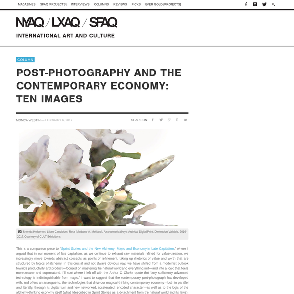 Post-photography and the Contemporary Economy: Ten Images