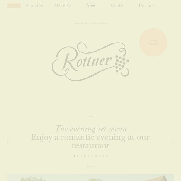 Hotel Rottner - News