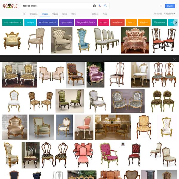 rococo chairs - Google Search