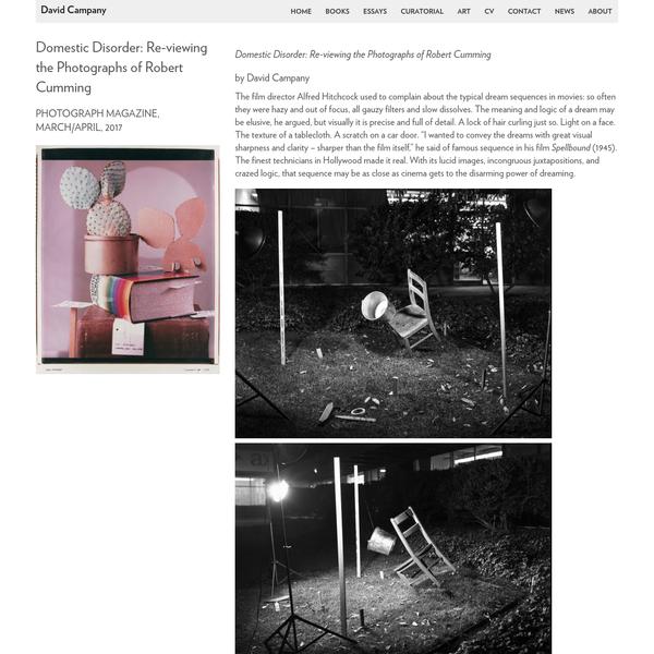 Domestic Disorder: Re-viewing the Photographs of Robert Cumming - David Campany