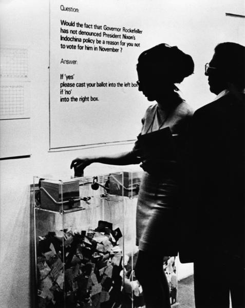 Hans Haacke, MoMA Poll (1970)