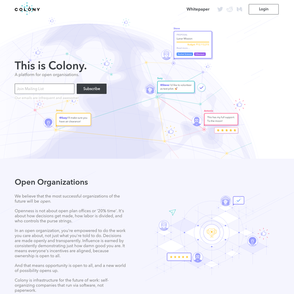 Colony: A platform for open organizations