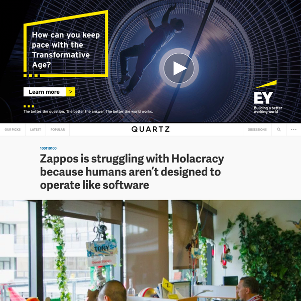 Zappos is struggling with Holacracy because humans aren't designed to operate like software