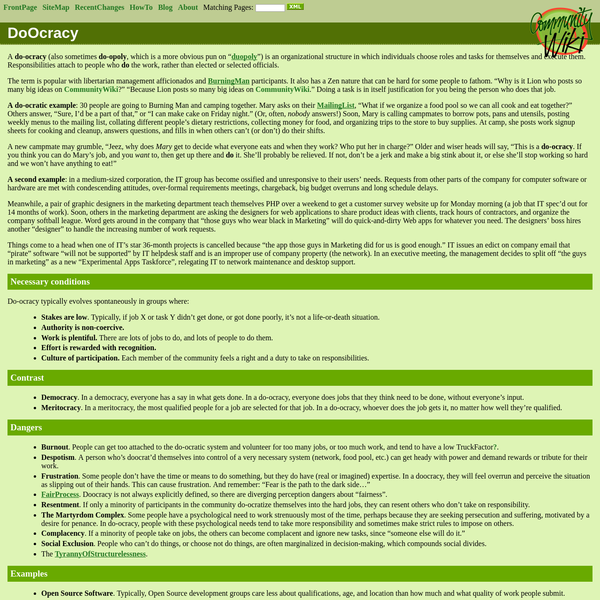CommunityWiki: Do Ocracy