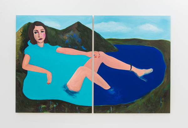2017.10 Becky Kolsrud: Allegorical Nudes, Clear Boot Diptych, 2017