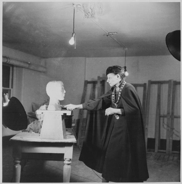 Nancy Elizabeth Prophet in studio