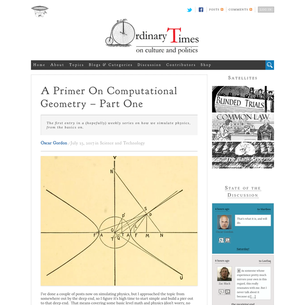 A Primer On Computational Geometry - Part One