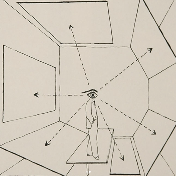 "Herbert Bayer's 1937 diagram showing the ""inclusive picture of all possible viewpoints."""
