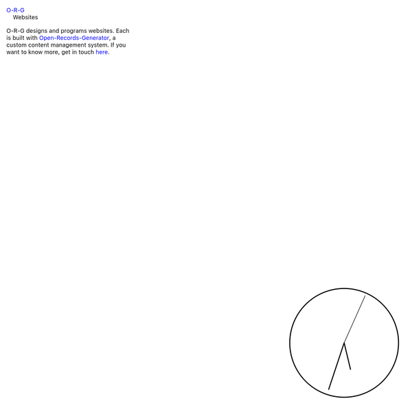 O-R-G | Websites