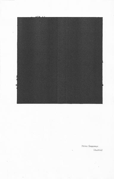 Gapmayr, Heinz in _Poor.Old.Tired.Horse. Number 14_ (Edinburgh: The Wild Hawthorn Press, c. 1962), p. 4.