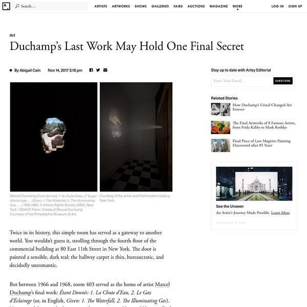 Duchamp's Last Work May Hold One Final Secret