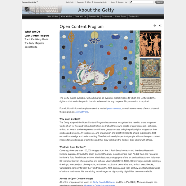 Open Content | About the Getty